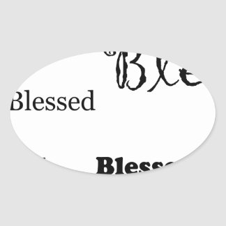 Pegatina Ovalada Blessed11