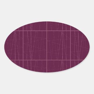 Pegatina Ovalada Bloques del chocolate del ethno del diseño