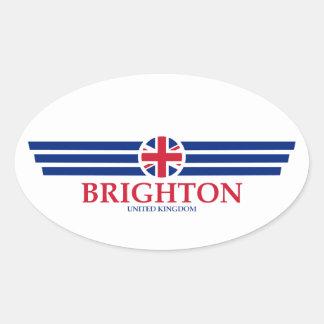 Pegatina Ovalada Brighton