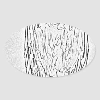 Pegatina Ovalada buitre