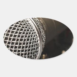 Pegatina Ovalada Canto del cable de micrófono del cable del
