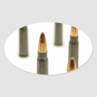 Pegatina Ovalada Cartucho 7.62x39 de AK47 de la bala de la munición