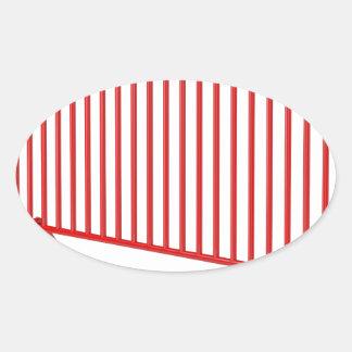 Pegatina Ovalada Cerca móvil roja