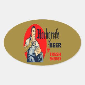 Pegatina Ovalada Cerveza de Hochgreve
