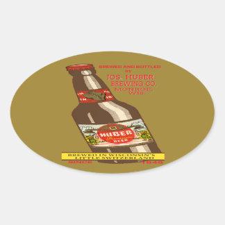 Pegatina Ovalada Cerveza de Huber