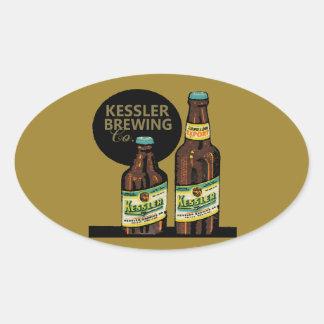 Pegatina Ovalada Cerveza de la exportación de Kessler
