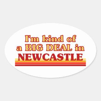 Pegatina Ovalada Clase de I´m de una gran cosa en Newcastle