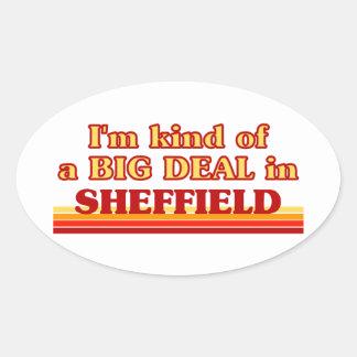 Pegatina Ovalada Clase de I´m de una gran cosa en Sheffield