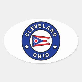 Pegatina Ovalada Cleveland Ohio