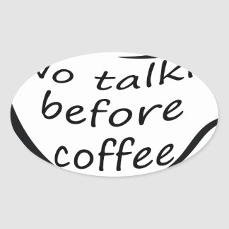 Pegatina Ovalada coffee22