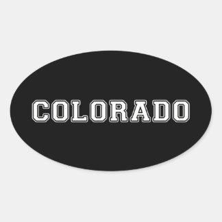 Pegatina Ovalada Colorado