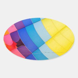 Pegatina Ovalada Colorido abstracto