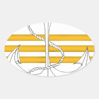Pegatina Ovalada comandante del oro, fernandes tony