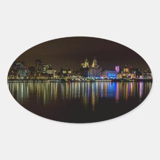 Pegatina Ovalada Costa de Liverpool