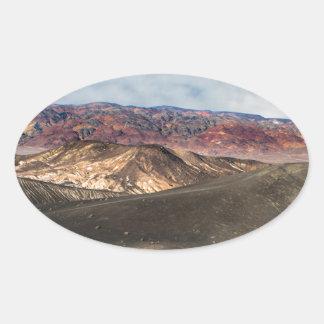 Pegatina Ovalada Cráter Death Valley de Ubehebe
