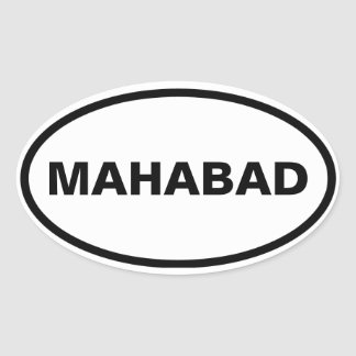 Pegatina Ovalada CUATRO Mahabad