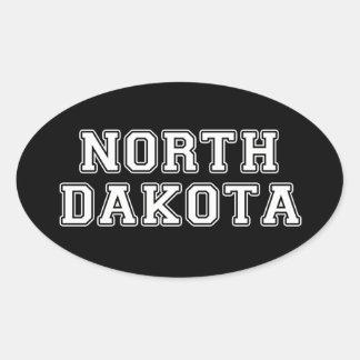 Pegatina Ovalada Dakota del Norte