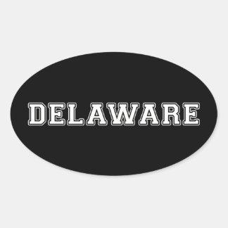 Pegatina Ovalada Delaware