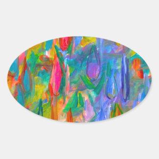 Pegatina Ovalada Descensos del color