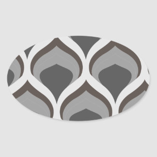 Pegatina Ovalada descensos geométricos grises