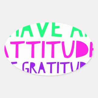 Pegatina Ovalada Detox AA de la recuperación de la gratitud de la