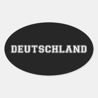 Pegatina Ovalada Deutschland