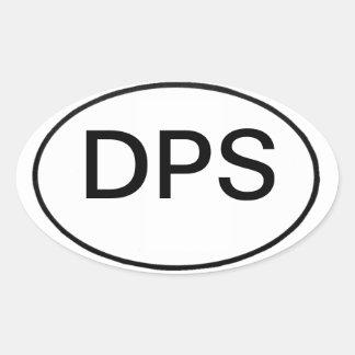 Pegatina Ovalada DPS: registro internacional del vehículo de motor