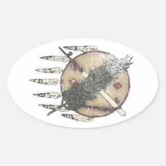 Pegatina Ovalada Dreamcatcher descolorado