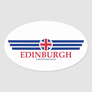 Pegatina Ovalada Edimburgo