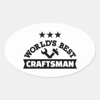 Pegatina Ovalada El mejor artesano del mundo
