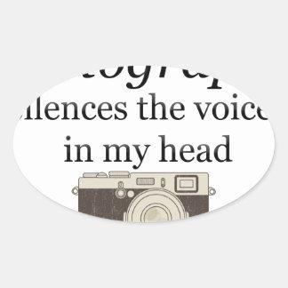 Pegatina Ovalada el pstvimhPhotography silencia las voces en mi