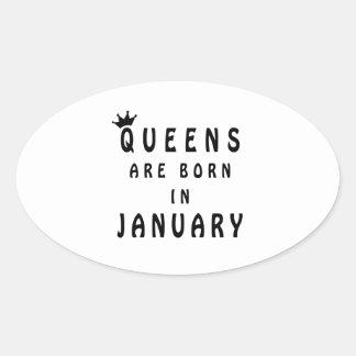 Pegatina Ovalada El Queens nace en enero