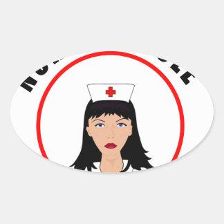 Pegatina Ovalada Enfermera de Nicole