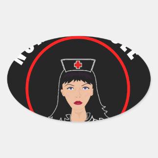 Pegatina Ovalada Enfermera Nicole