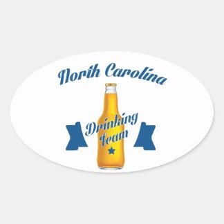 Pegatina Ovalada Equipo de consumición de Carolina del Norte