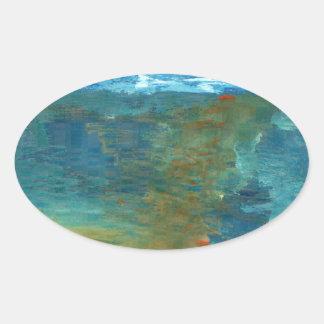 Pegatina Ovalada Era el mar