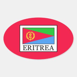 Pegatina Ovalada Eritrea