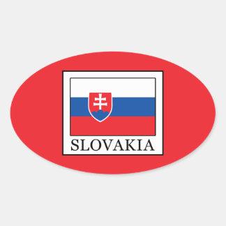 Pegatina Ovalada Eslovaquia