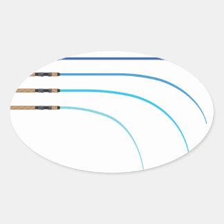 Pegatina Ovalada Espacios en blanco curvados vector doblado de la