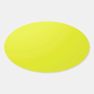 Pegatina Ovalada Espacios en blanco de oro amarillos de la sombra