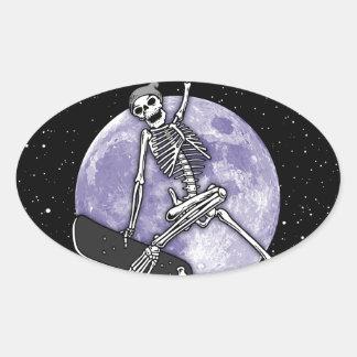 Pegatina Ovalada Esqueleto del tablero