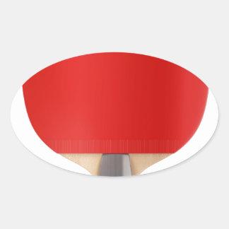 Pegatina Ovalada Estafa de tenis de mesa