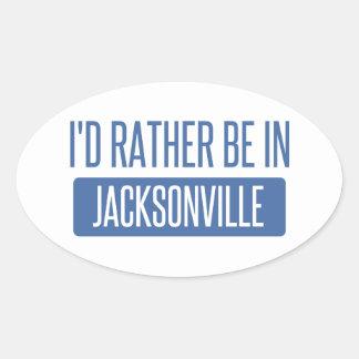 Pegatina Ovalada Estaría bastante en Jacksonville NC