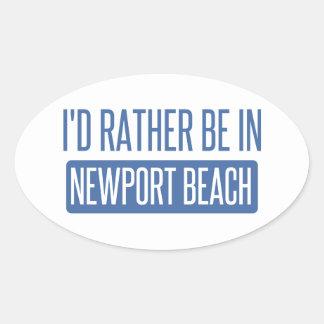 Pegatina Ovalada Estaría bastante en la playa de Newport