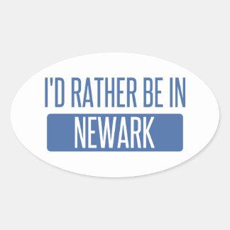 Pegatina Ovalada Estaría bastante en Newark CA