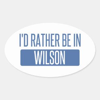 Pegatina Ovalada Estaría bastante en Wilson