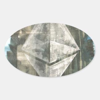 Pegatina Ovalada Ethereum