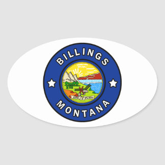 Pegatina Ovalada Facturaciones Montana