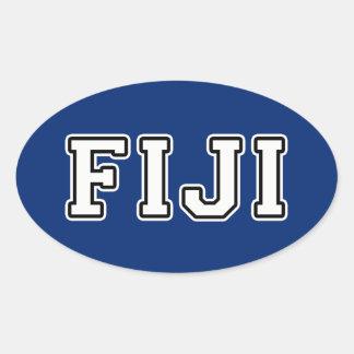 Pegatina Ovalada Fiji