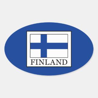 Pegatina Ovalada Finlandia